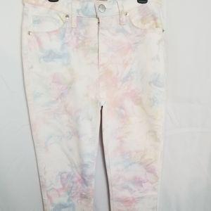RARE-Free People Pastel Tie Dye Skinny Jeans-NWT